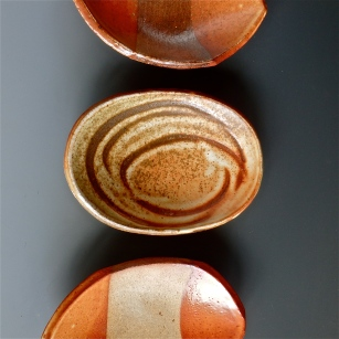 """Eyes of the World Are Watching"" small oval dishes"
