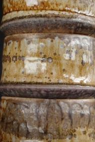 Stack of bowls showing natural ash glaze detail