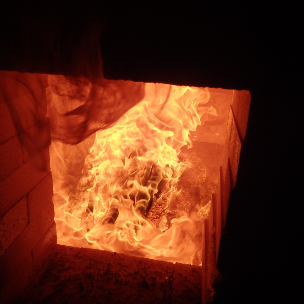 Main firebox flame.